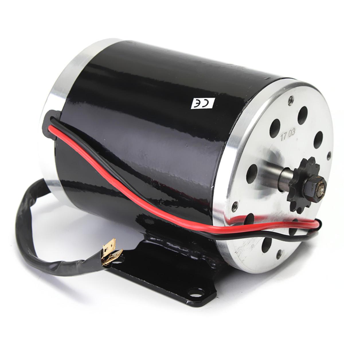 24V 500W 28.5A Electric Brushed Motor 2500Rpm w/ bracket For Scooter E-Bike Mini Bike Go Kart