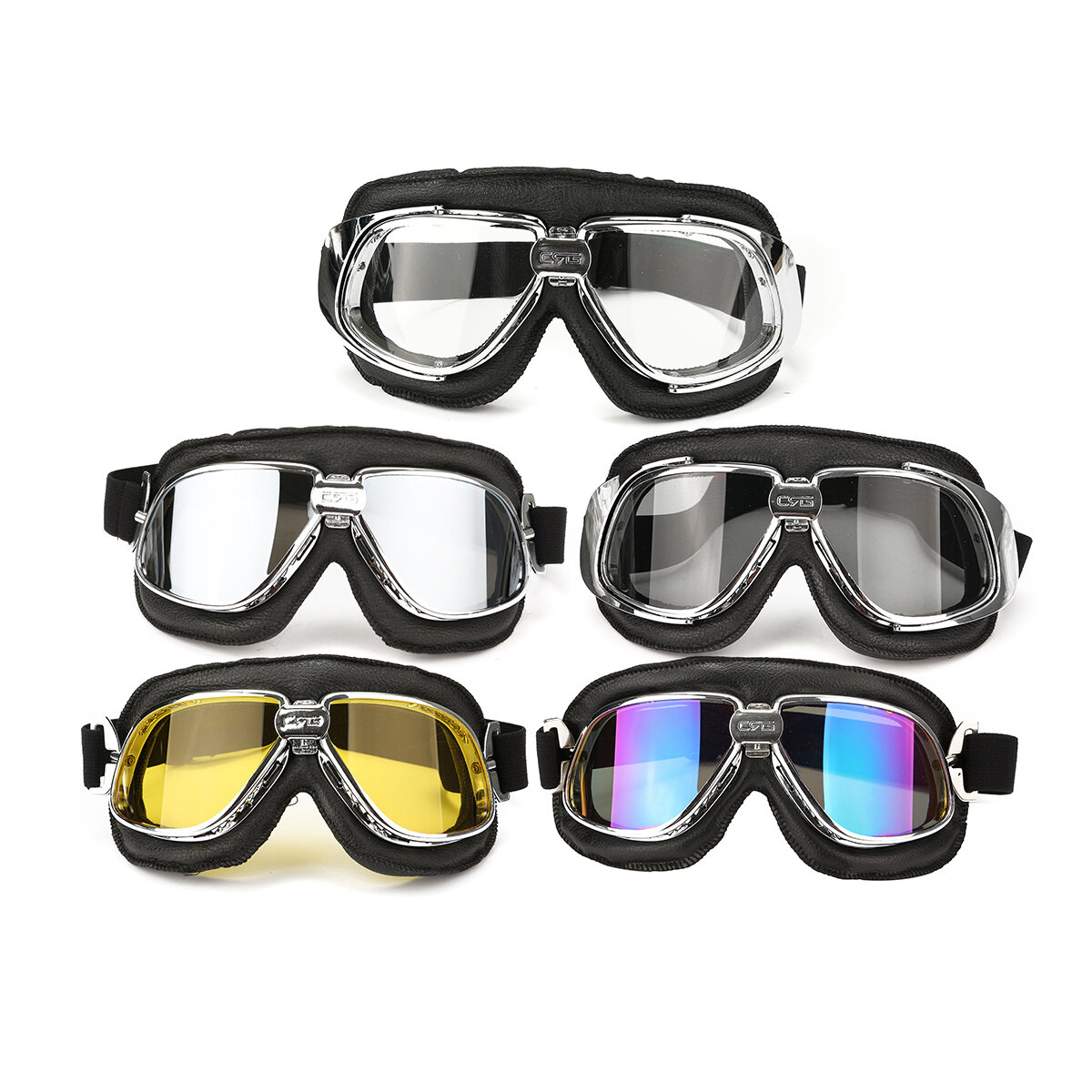 f06ab0ffea3 Motorcycle Goggles Motor Bike Flying Scooter Helmet Glasses Goggle Anti UV  COD