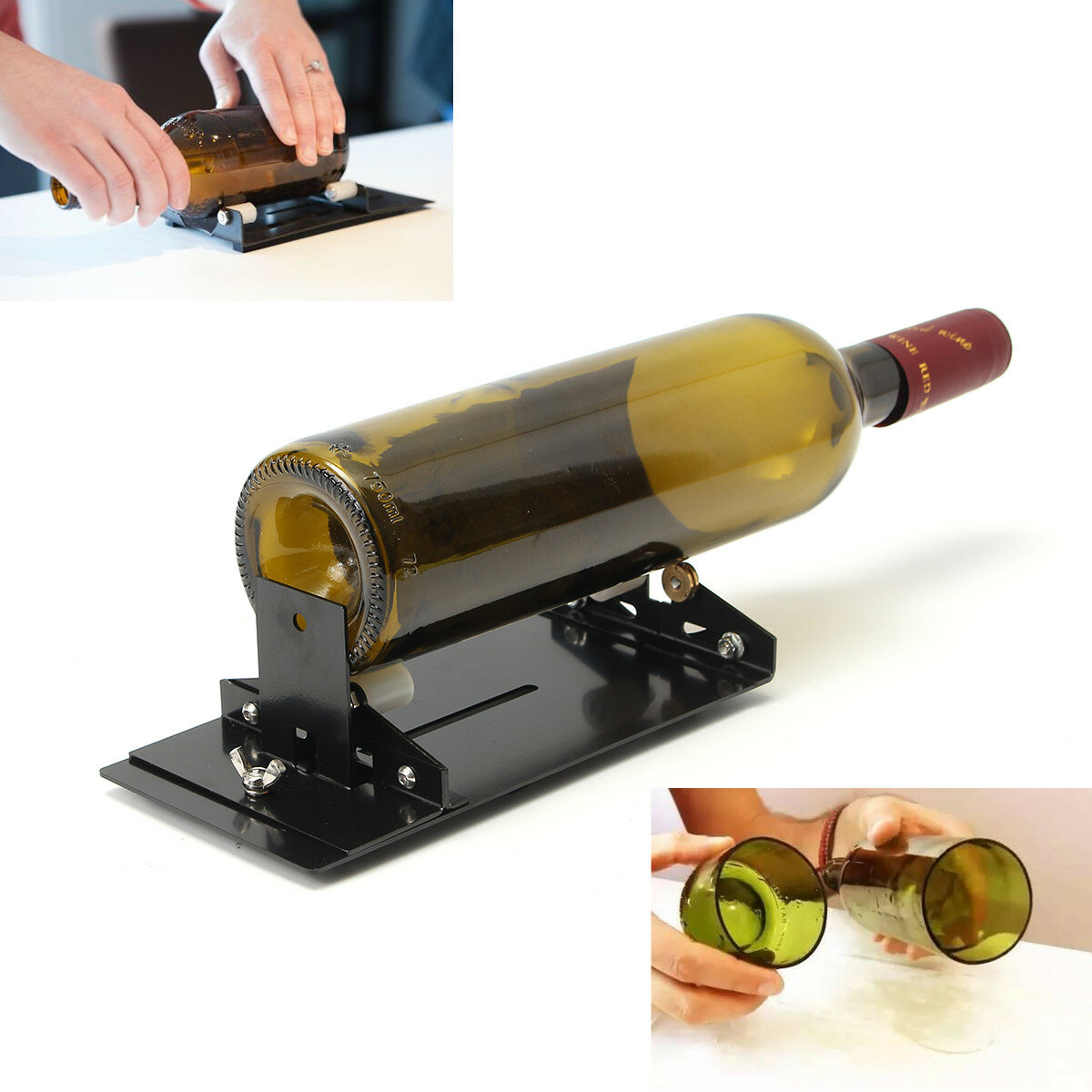 Glass Bottle Cutter Machine Cutting Tool Kit Diy Craft Cut Wine Jar Beer Recycle