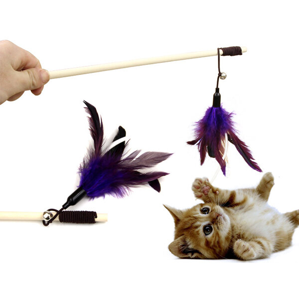 Yani HP-PT1 สัตว์เลี้ยง Tease Cat Stick ขนนกเพียวห่าน Cat ของเล่นสัตว์เลี้ยงอุปกรณ์เล่นการเล่น