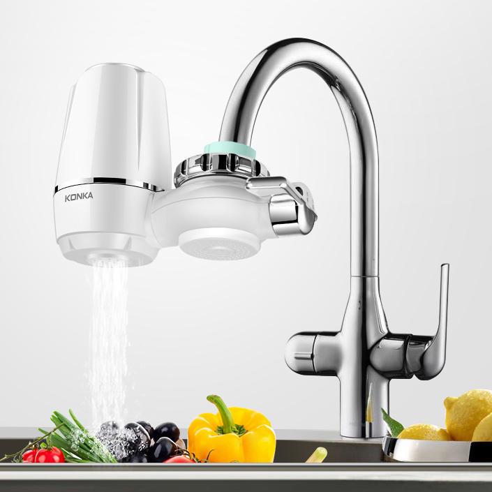 KONKA Rubinetto Filtro acqua ed elementi Lavabile Filtrazione Rubinetto da cucina Rubinetto adatto alla maggior parte dei rubinetti
