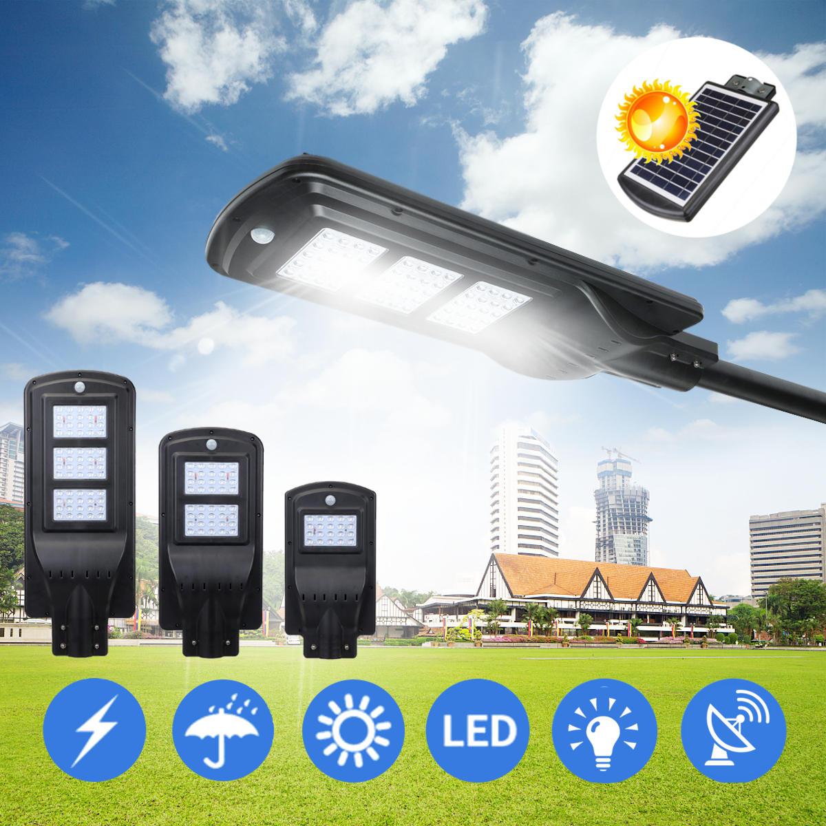 20W 40W 60W LED Wall Street Solar Movimiento de inducción de radar de luz Sensor al aire libre Lámpara