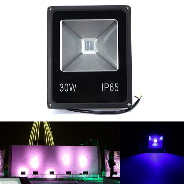30W UV LEDプロジェクター洪水ライト365/375/385/395/405 / 415NM屋外防水ランプAC85-265V