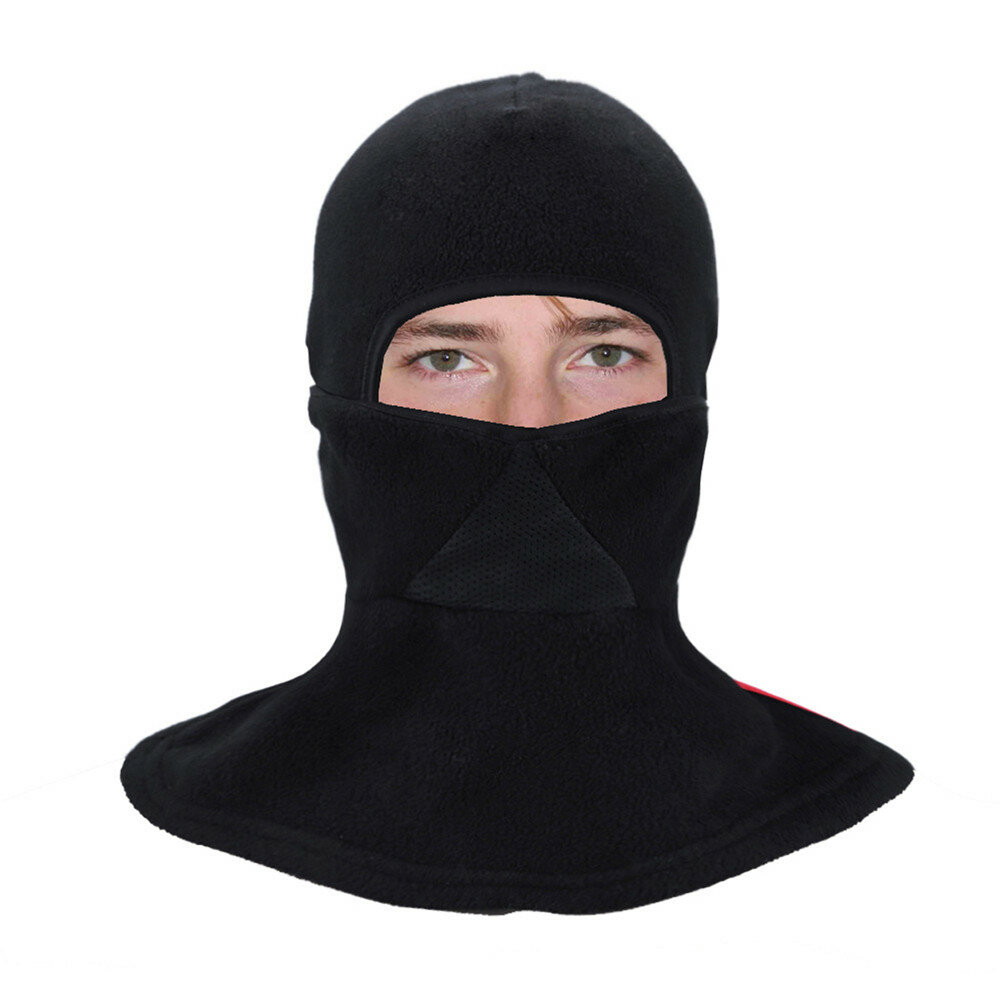 Motorcycle Cycling Skiing Full Face Mask Winter Thermal Fleece Neck Warmer Scarf COD
