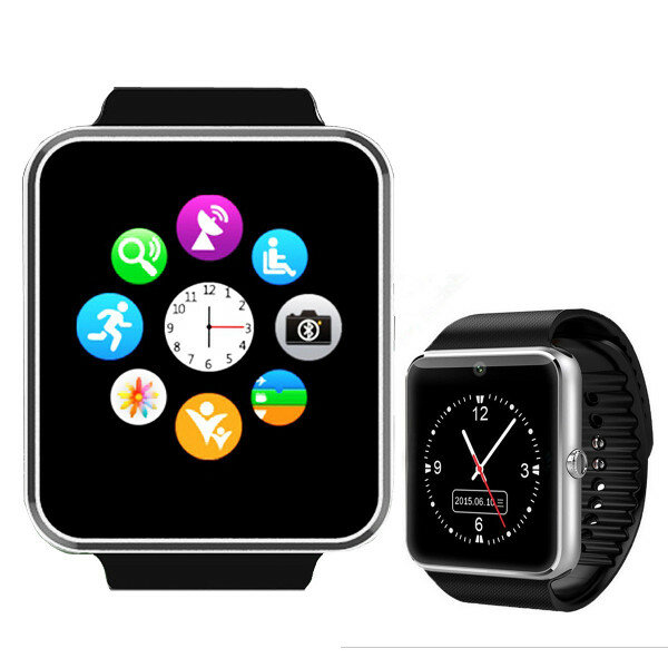 e5e1711195060 GT08 MTK6261 bluetooth Smart Watch Sync Notifier With SIM Card for Android  COD