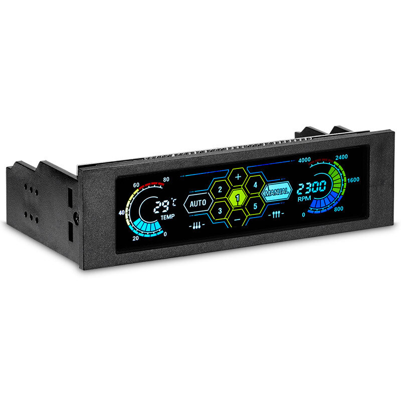 STW 5.25 inch LCD Front Panel CPU Cooling Fan Speed Controller Temperature Monitor PC Drive Bay