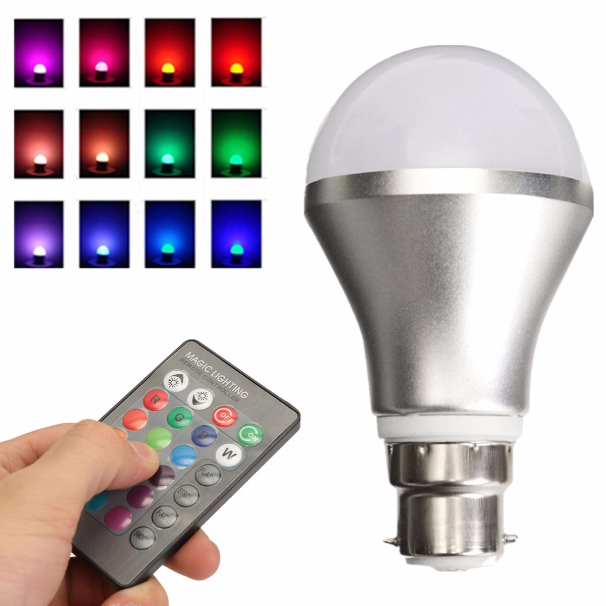 Dimmable Rgb Color Changing 4w B22 Led Light Bulb Bayonet With Ir Control Leds On Off Remote And Arduino P Marian Infrared Controller