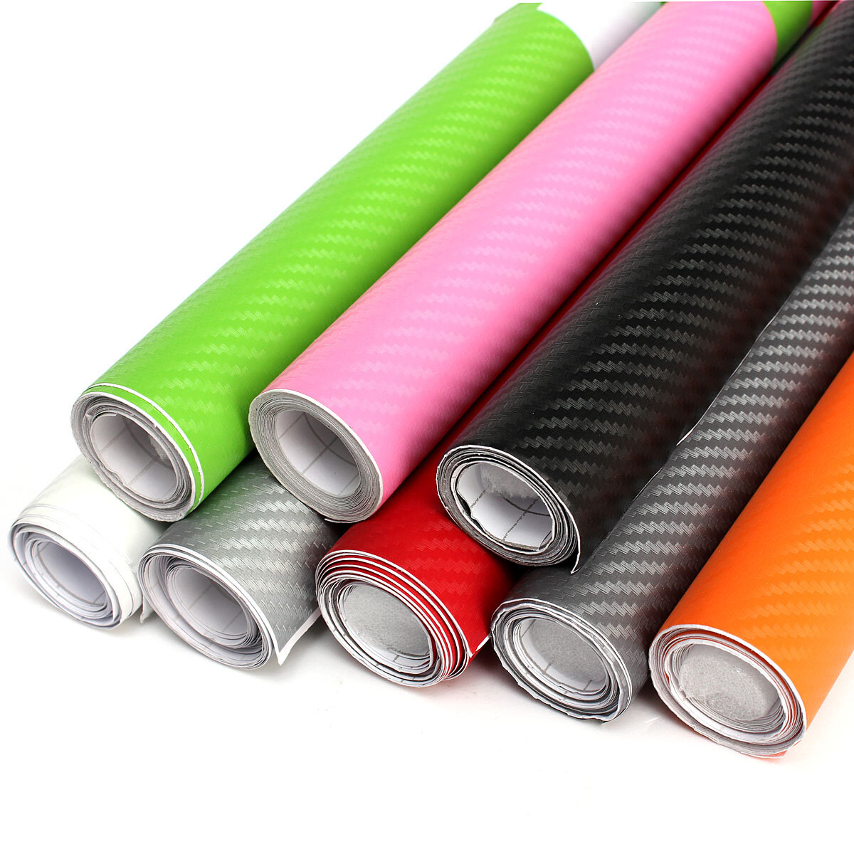 200x40cm DIY Carbon Fiber Vinyl Wrap Roll Film Sticker Car Decal Sheet