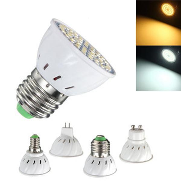 E27 E14 GU10 MR16 3.5W 24 SMD 5050 LED Blanco puro blanco caliente Spotlightt bombilla AC110V AC220V