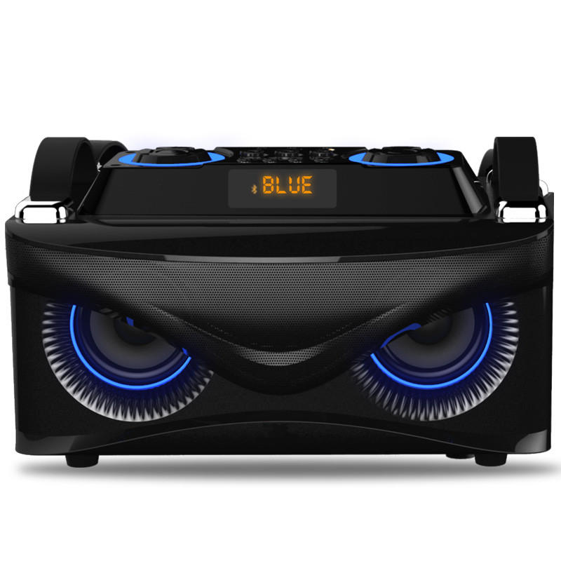 SOAIY S88 Eagle bluetooth Smart Speaker with Bass 3D Stereo Surround Sound Home Multimedia Audio Blue Tempo Light Hand-held Design bluetooth Speaker