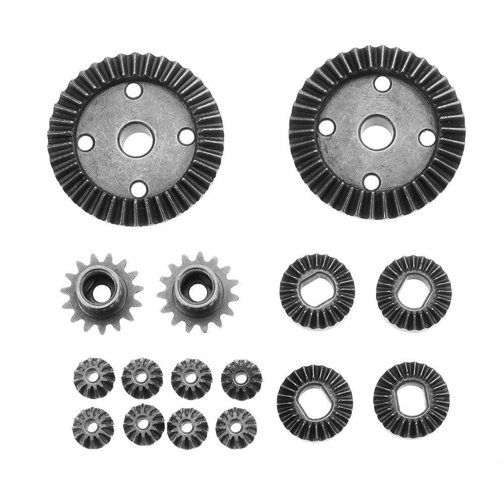 TPOWER 16PC Upgrade Parts Metal Gear 2 Sets For Wltoys 1/18 A949 A959 Rc Car Parts