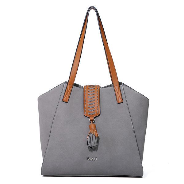 Kadell Large Capacity Tote Bag PU Shoulder Bag Handbag For Women
