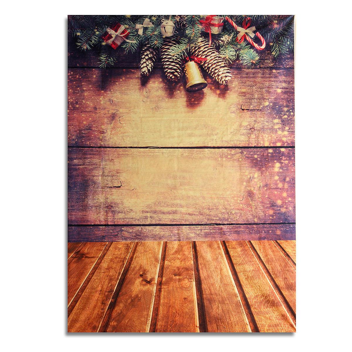 7x5FT Christmas Gifts Wood Floor Wall Background Backdrop Studio ...