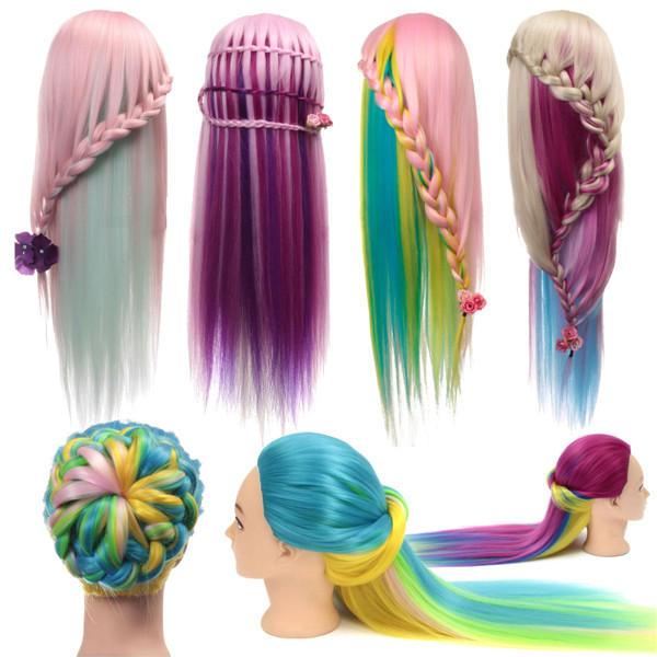 Многоцветной держатель манекена модель оплетки практика салон зажим парикмахерское головка тренировка