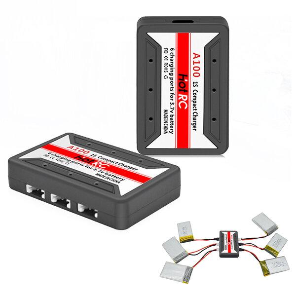 HotRc A100 6 in 1 3.7V Lipo 배터리 충전기, Hubsan X4 Q4 용 H107L H107C WLtoys JJCR UDI
