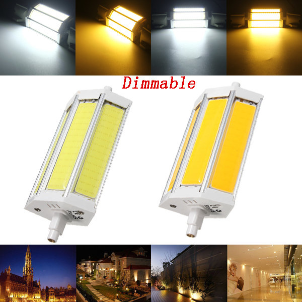 dimmbare r7s 118mm 15w cob smd wei warmwei led flutlicht spot mais licht lampen birnen. Black Bedroom Furniture Sets. Home Design Ideas