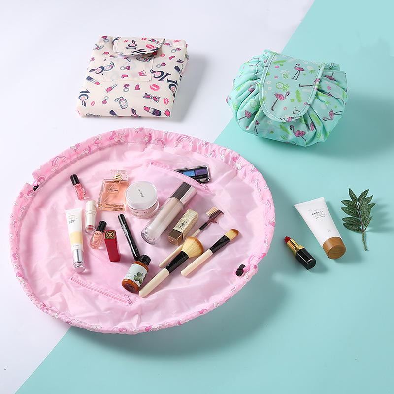 Sac cosmétique portatif de maquillage de sac de maquillage paresseux de stockage de voyage de capacité élevée de sac cosmétique