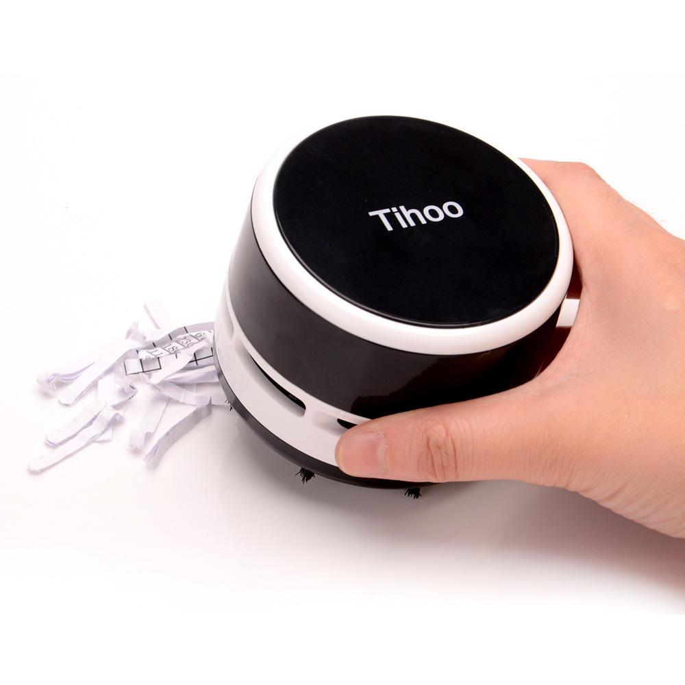 Tihoo Portable Mini Desktop Table Aspirador Filtro de polvo Filtro Barrendero de limpieza herramientas