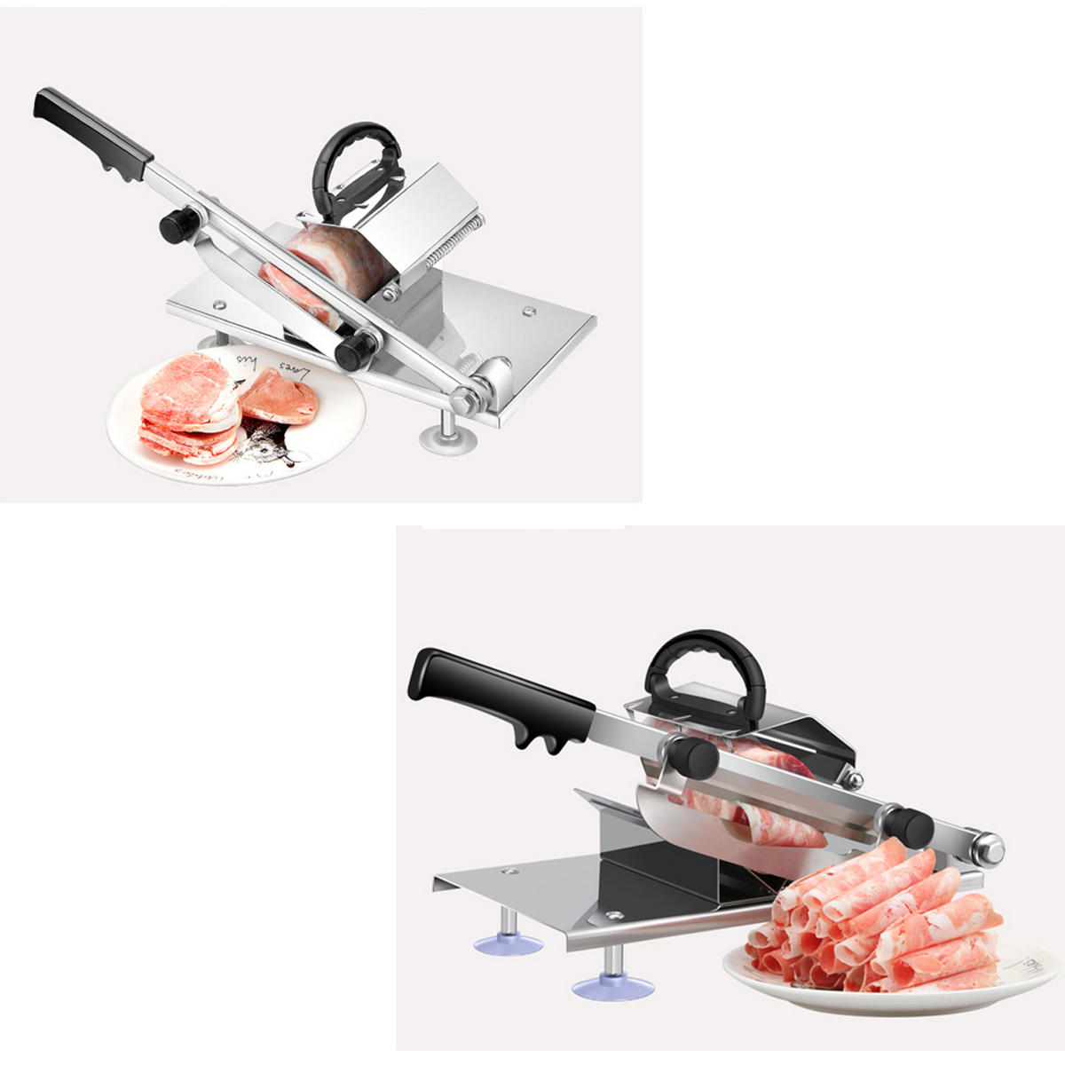 Household Meat Slicer Manual Frozen Meat Slicer Cutter Beef Mutton Sheet Slicing Machine