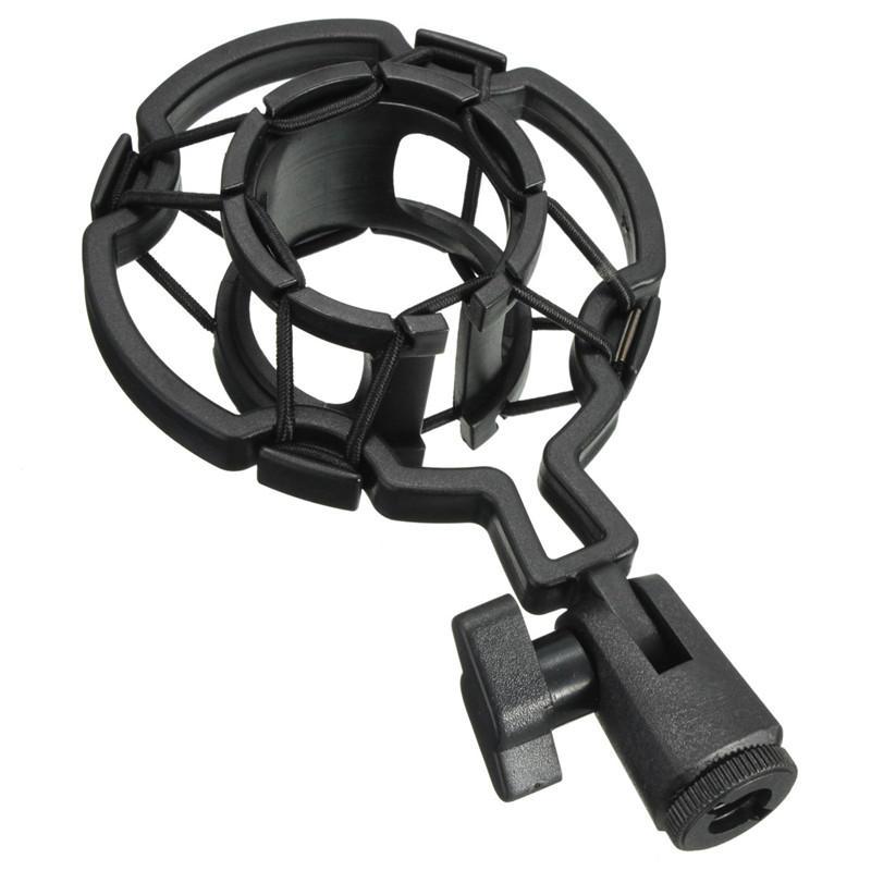 Supporto da tavolo universale per montaggio in plastica nera da studio Microfono Shock Shock per condensatore Microfono