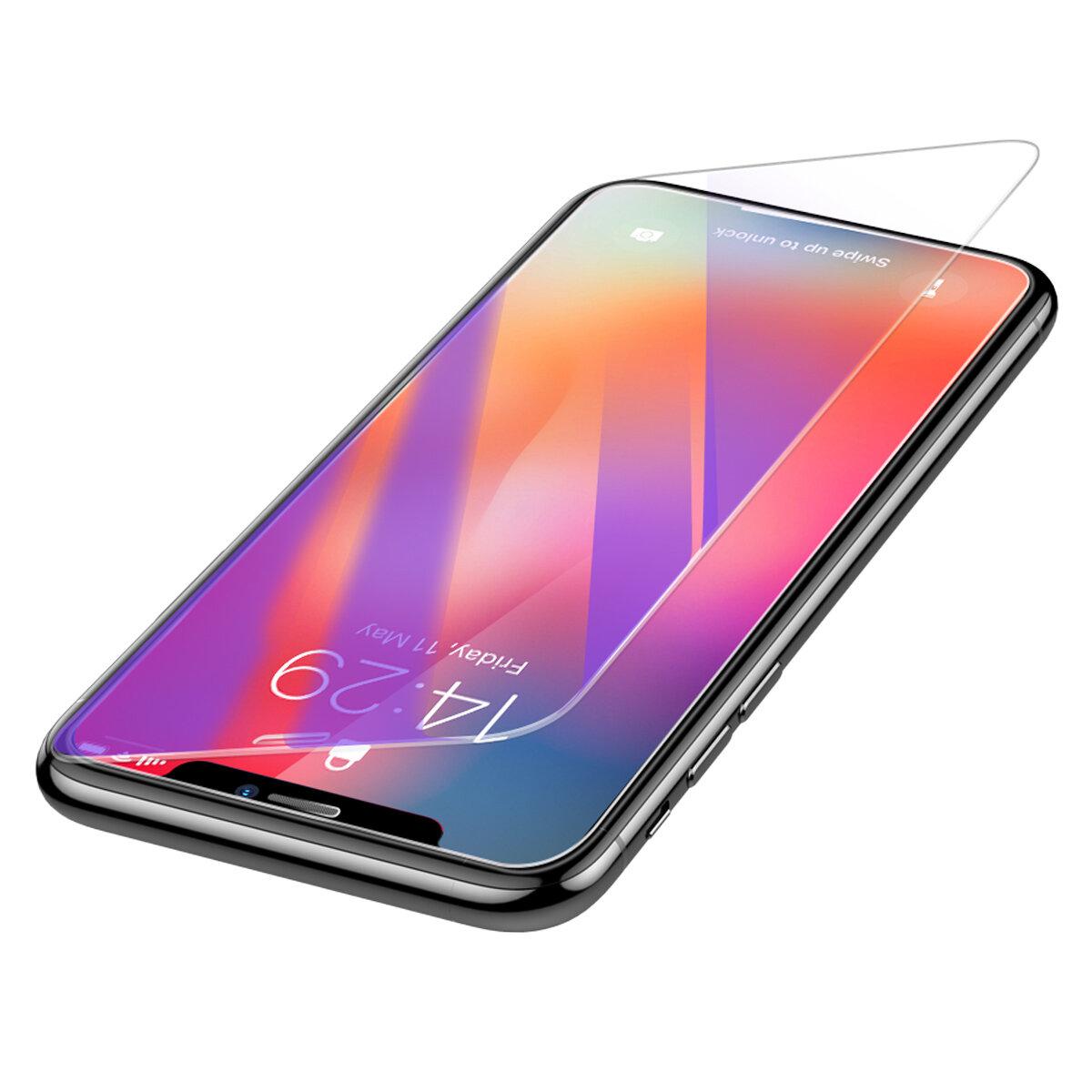 Baseus 0.3mm Klar   Anti Blå Ljus Ray Full Härdad Glas Skärmskydd För iPhone  XS 449854b881c30