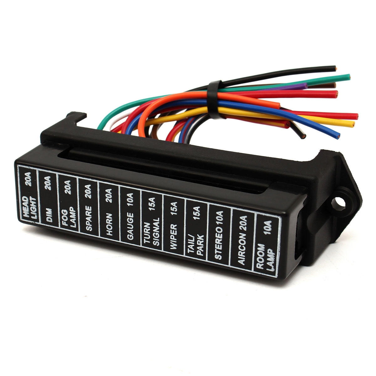 32v 12 Way Circuit Car Boat Automotive Blade Fuse Box Block Holder Universal Auto Atc Ato Rv25