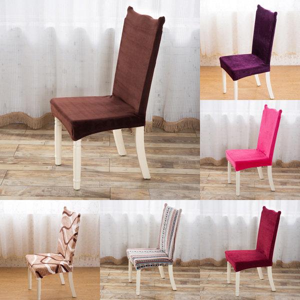 Peluş Thicken Antifouling Elastik Stretch Spandex Sandalye Koltuk Kılıfı Parti Yemek Odası Düğün Dekorasyon
