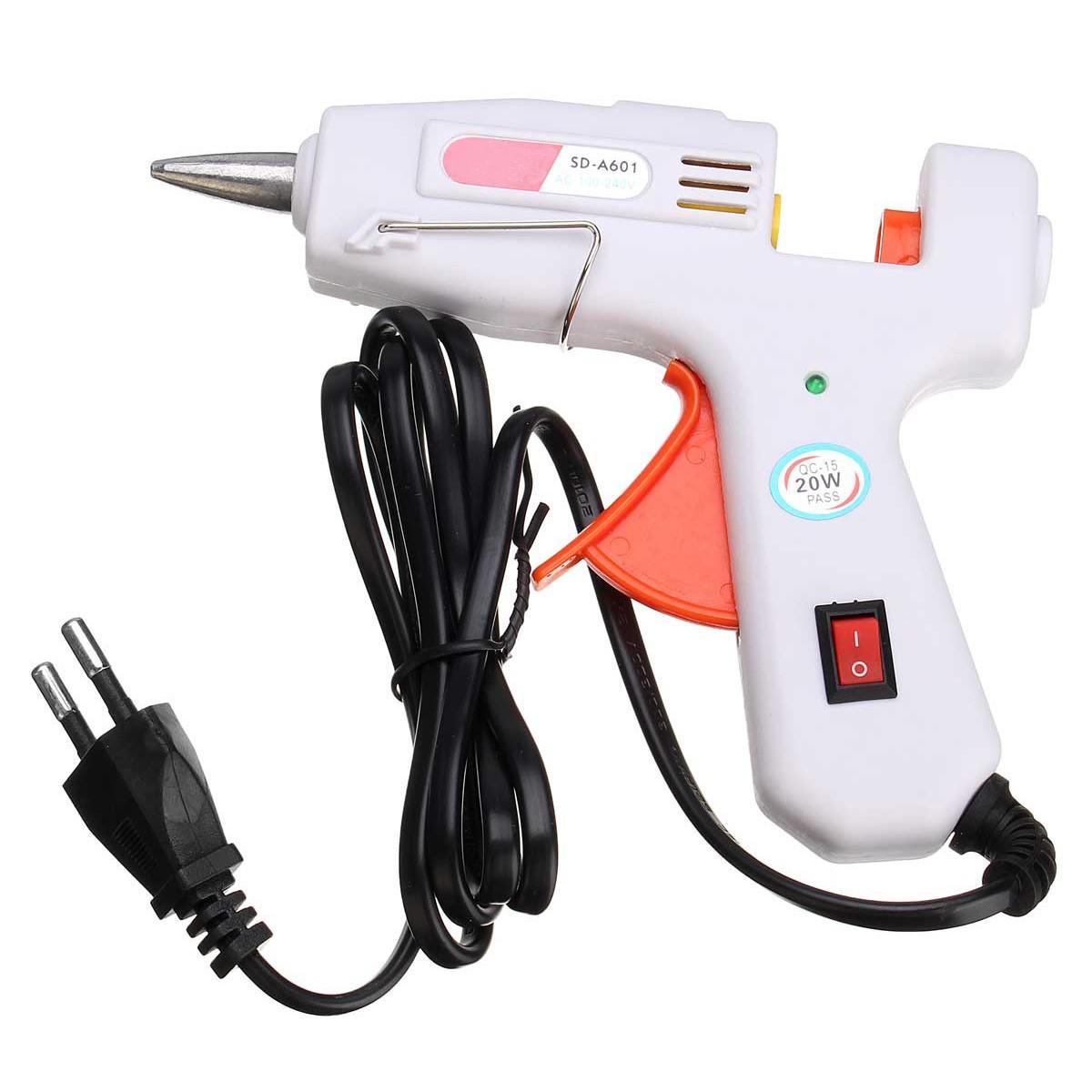 20W White Heating Hot Melt Electric Glue Crafts Repair Tools
