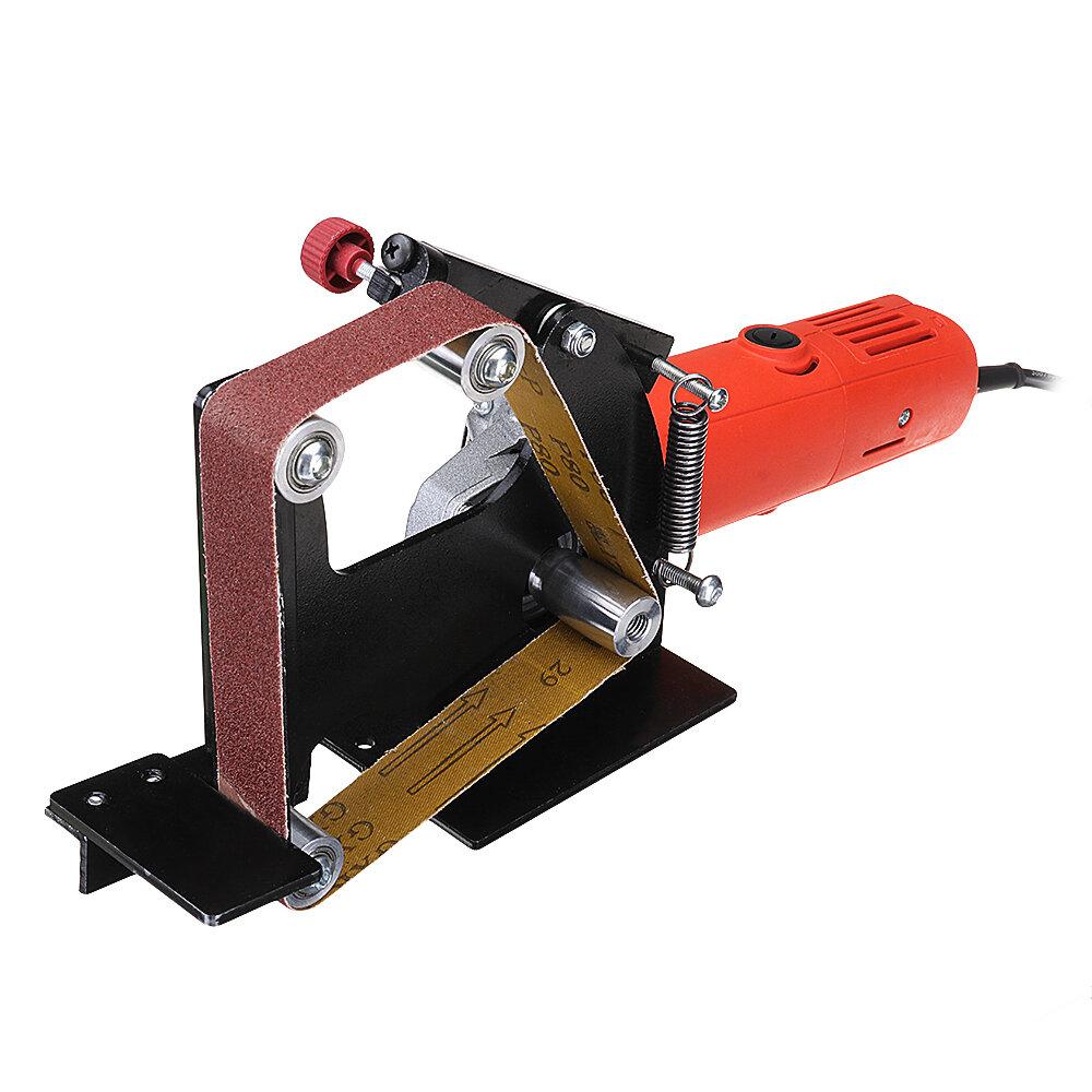 048d010419c drillpro angle grinder belt sander attachment metal wood sanding ...
