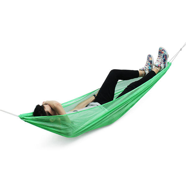 7ed084c3529 190 130cm 1-2 Person Ice Silk Outdoor Hammock Nylon Rope Net Hanging  Sleeping Double Bed COD