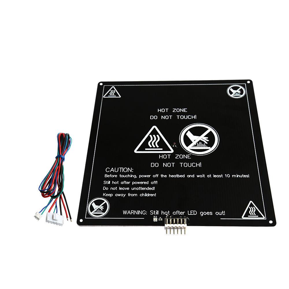 Anet® 220x220x3mm 120W 12V MK3 Panneau d'Aluminium Amélioré PCB Lit de Chauffage avec Fil pour Imprimante 3D