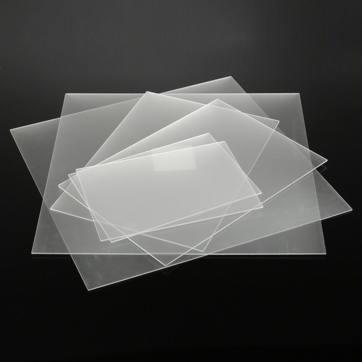 แผ่นอะคริลิคเคลือบเงาฝ้าขนาด 3 มม. แผ่นพลาสติกด้านหลังเคลือบด้านซาติน 6 สี