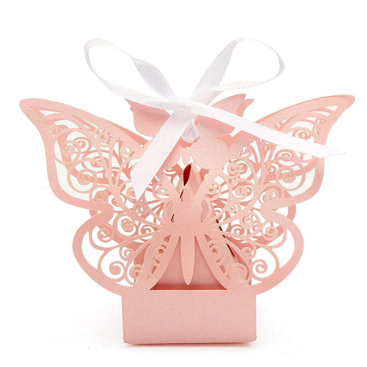 10 Pcs Butterfly Lace Hollow Out Paper Candy Boxes Wedding Favors ...