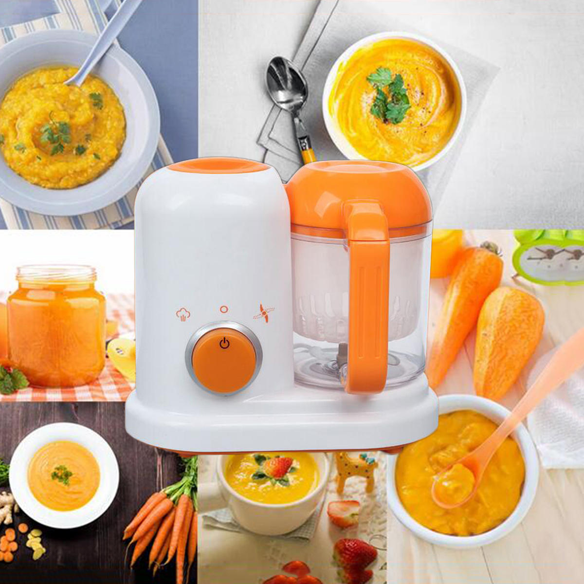 New Electric Baby Food Maker Processor Toddler Blender Safe Healthy Steam Cooker Steamer Bpa Free