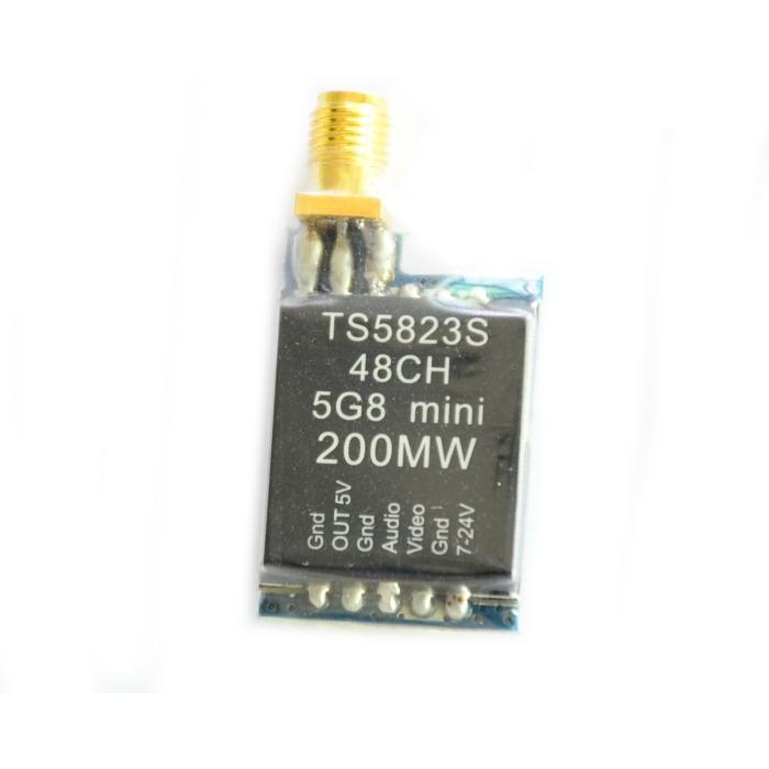 TS5823SマイクロVTX 5.8G 200mW 48CHミニFPVトランスミッタSMA RP-SMA RCドローン用