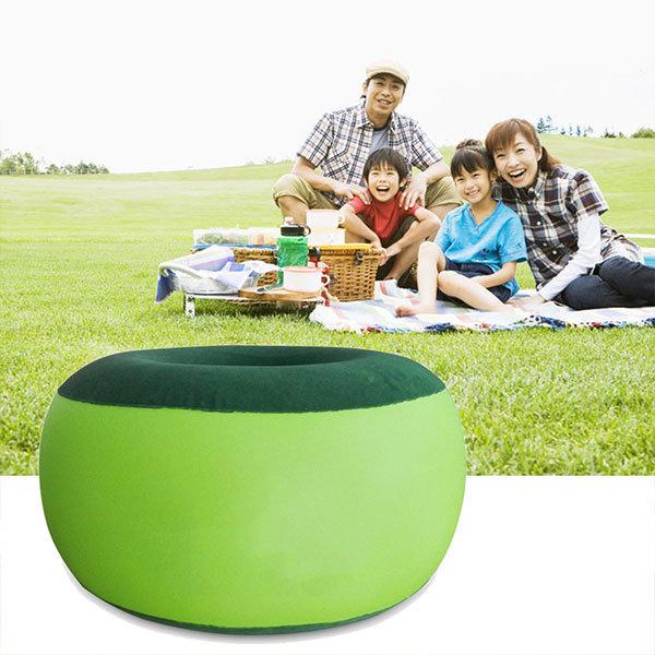 휴대용 풍선 의자 야외 봉제 공압 의자 콩 가방 원형 모양 가정 가구