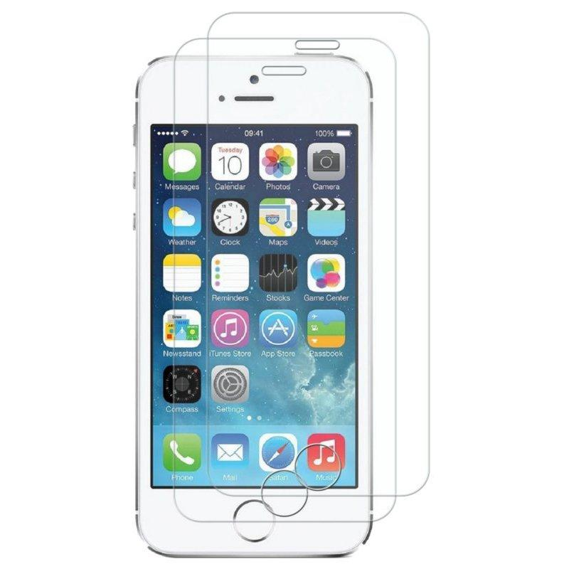 2 Pack Bakeey 0.26mm 9H Scratch Resistant Tempered Glass Screen Protector For iPhone 5/5s/SE COD