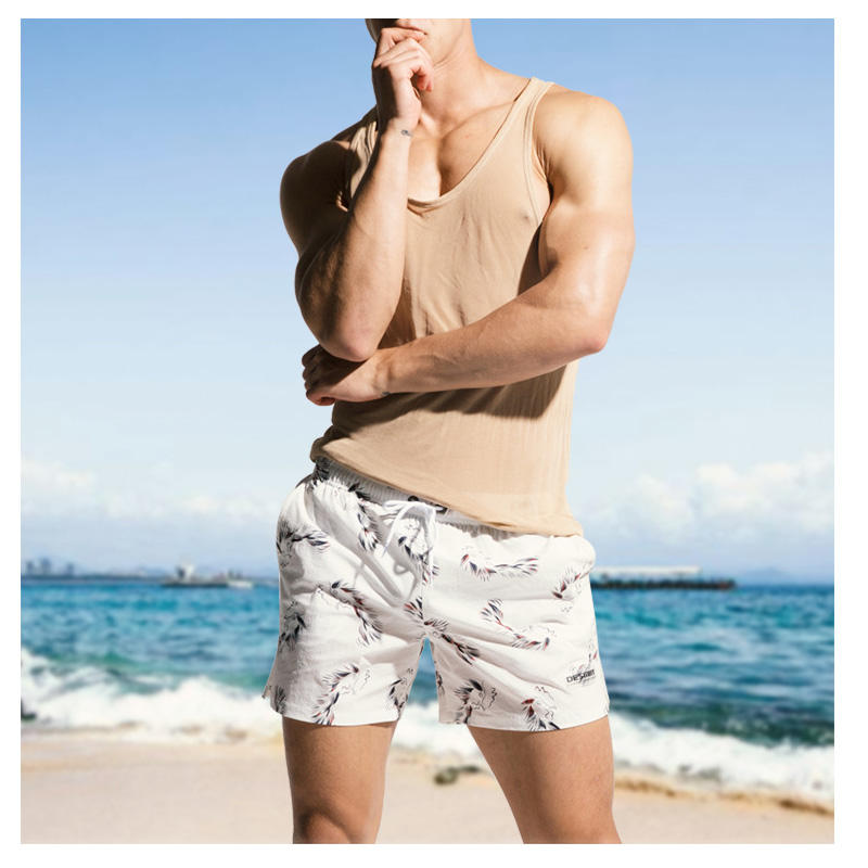 Mens Sommar Casual Printing Hem Sport Beach Board Shorts