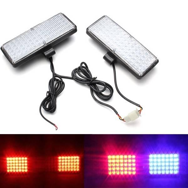 Paar LED Auto Stroboskop Kühlergrill blinken eskortieren leuchtet Kontrolllampe