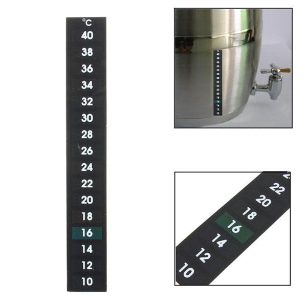 Liquid Crystal Thermometer for Fermenting Home Brew Beer Wine Making 10-40 Degree