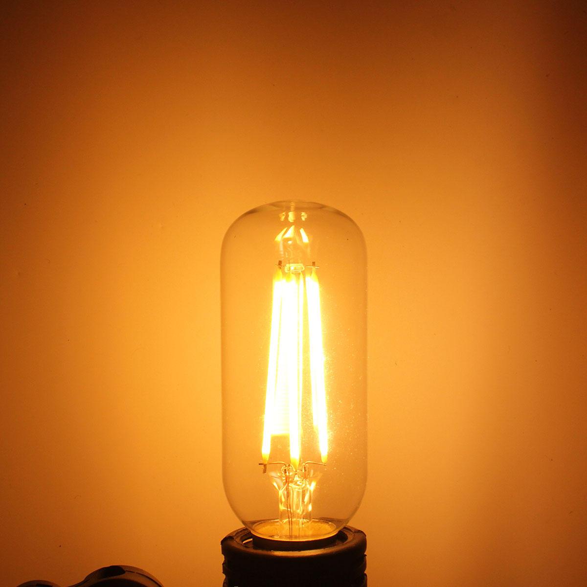 Kingso T45 E26/E27 Dimmable Edison LED Bulbs Warm White COB Vintage Light 400LM 4W 110V/220V