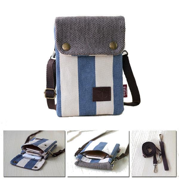 Multi-capa de lona ajustable cinturón Messenger Bag bolso de la ...