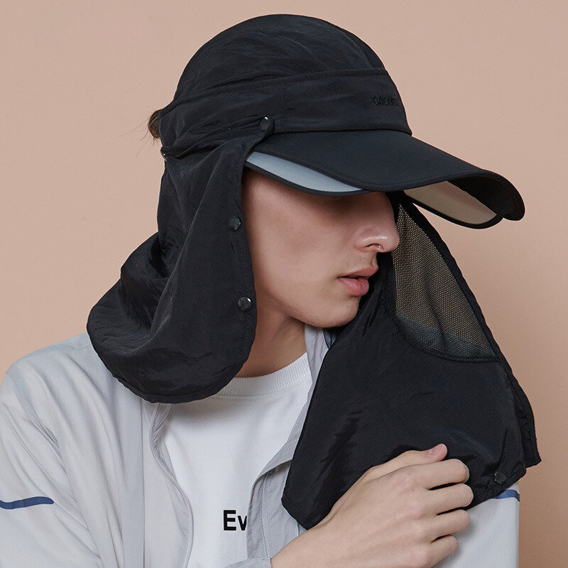 Mens Womens Summer Sunshade Muti-use Sun Hat Outdoor Casual Anti UV Sports Removable Baseball Hat