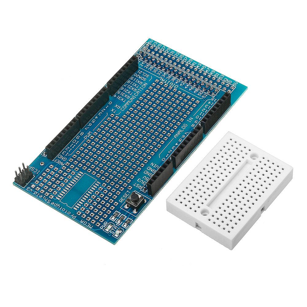 mega2560 1280 protoshield v3 expansion board with breadboard for