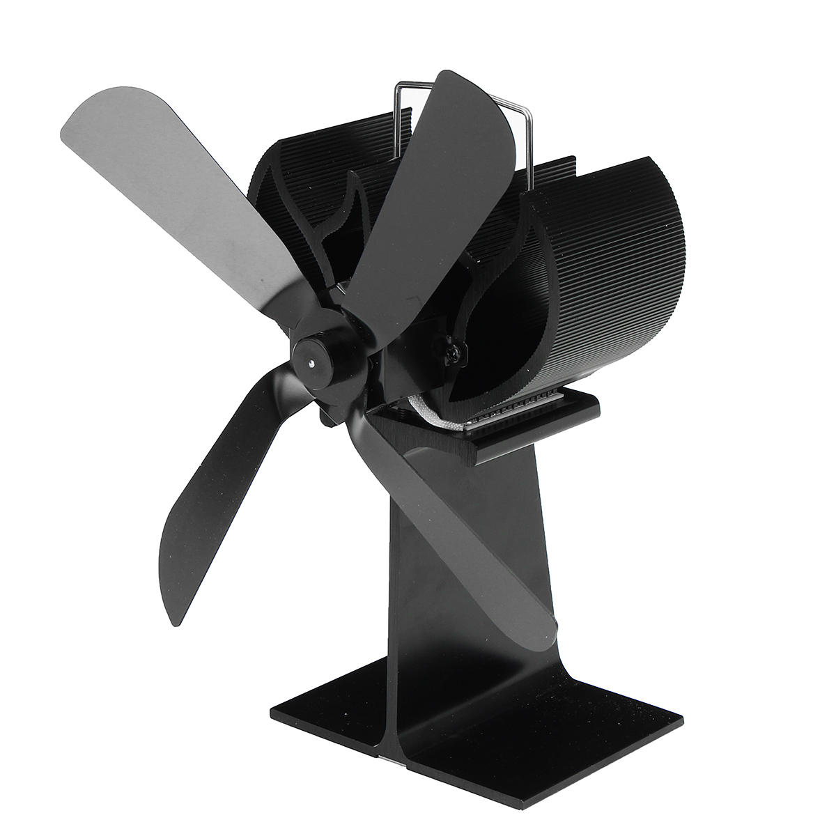 4 Blade Stove Fan Quiet Heat Ed Wood Log Burner Eco Friendly Circulation For Fireplaces Cod