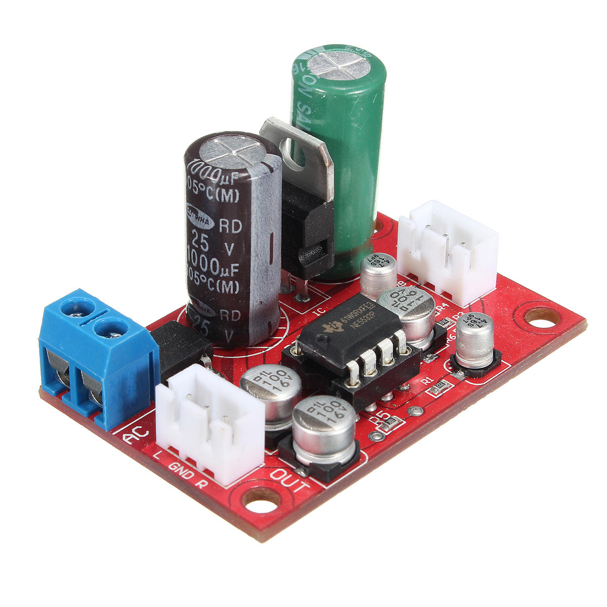 Dc 9 24v Ac 8 16v Ne5532 Audio Op Amp Microphone Preamps Pre Headphone Amplifier Circuit This Is An Exercise In