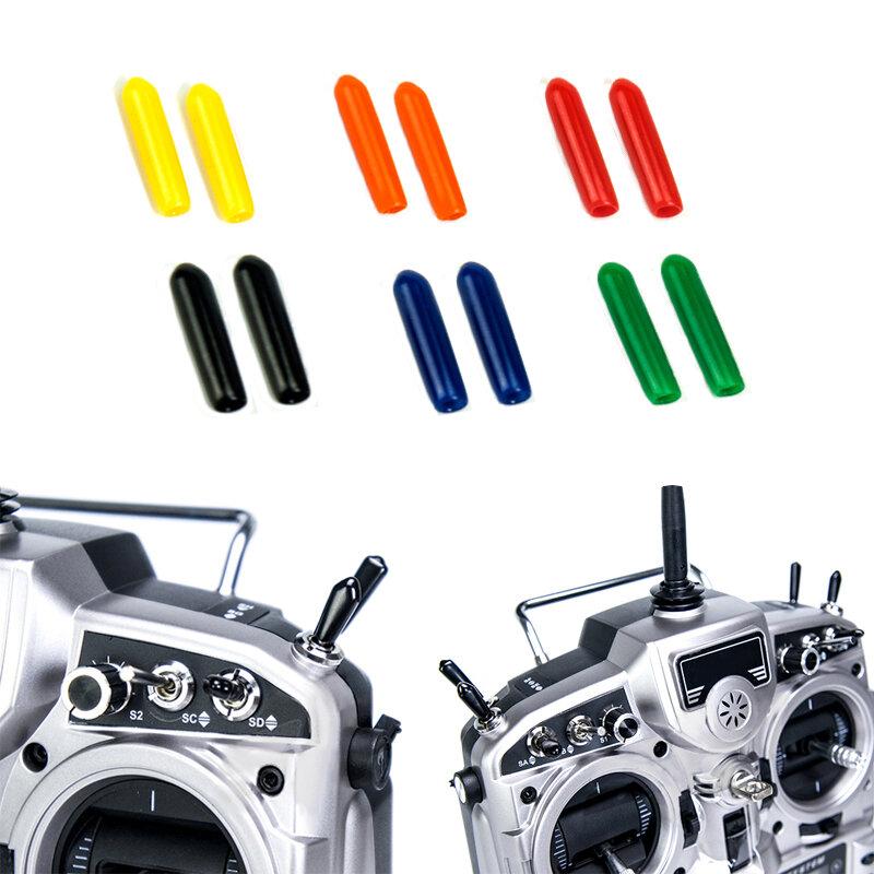 10st Rubber Transmitter Anti-Slip Stick Switch Cap Schede voor Flysky Futaba JR Frsky Radiolink