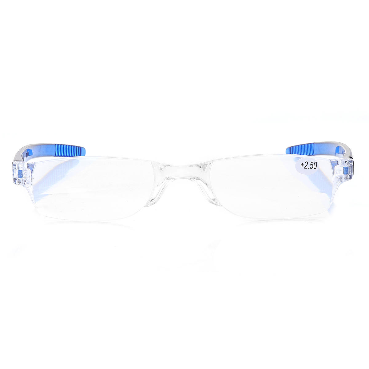Minleaf Light Weight Blue Rimless Resin Magnifying Best Reading Glasses Fatigue Relieve