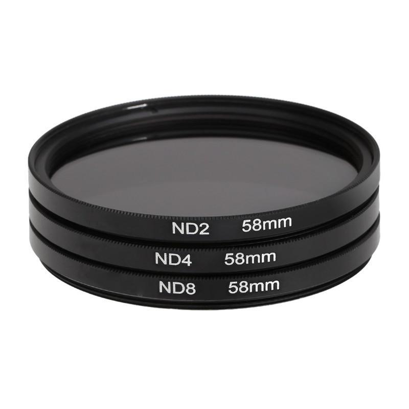 acd150963 3 stk. 58mm ND2 ND4 ND8 Neutral Density Filter Lens