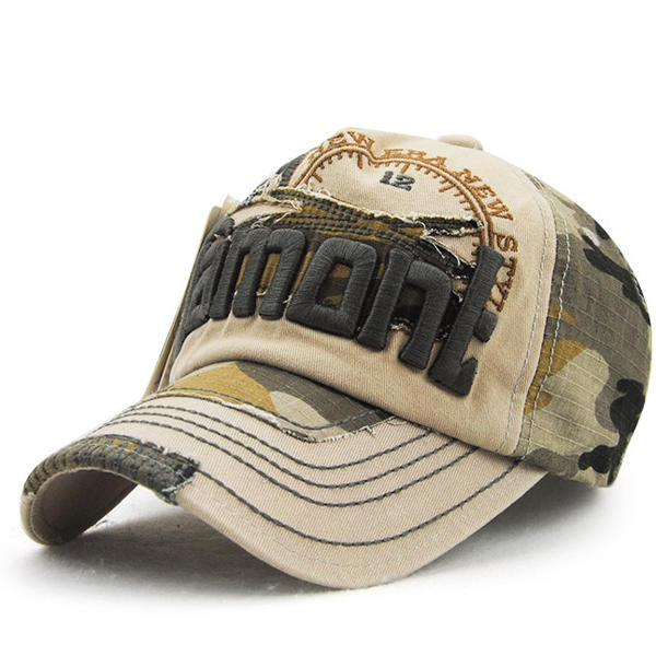 c3f39320b4c550 unisex embroidery baseball cap camouflage casual outdoor hip-hop hat ...